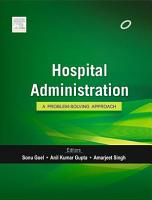 Textbook of Hospital Administration PDF