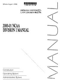 NCAA Division I Manual PDF