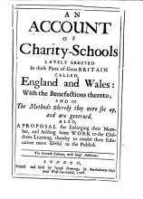 An Account of Charity schools Lately Erected in England  Wales and Ireland PDF