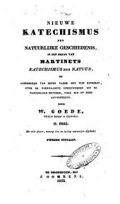 Nieuwe katechismus der natuurlijke geschiedenis in den smaak van Martinets Katechismus der natuur, of Gesprekken van eenen vader met vijf kinderen, over de voornaamste onderwerpen uit de natuurlijke historie: voor min en meer gevorderden, Volume 2