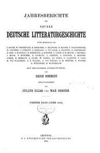 Jahresberichte f  r neuere deutsche Literaturgeschichte PDF