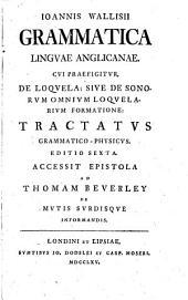 Grammatica linguae Anglicanae