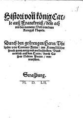 Histori von[n] könig Carle auß Franckreich, dem achten des namens Und von dem Krieg zu Napels