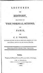 Lectures on History ... Translated from the French