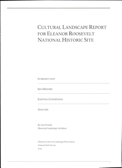 Cultural Landscape Report for Eleanor Roosevelt National Historic Site PDF