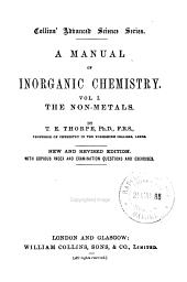 A manual of inorganic chemistry: Volume 1