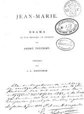 Jean-Marie: drama in één bedrijf, in verzen