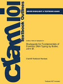 Studyguide for Fundamentals of Forensic Dna Typing by Butler  John M  PDF
