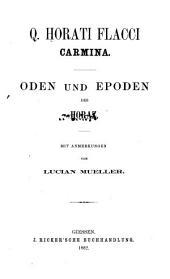 Carmina: Oden und Epoden [Latin]