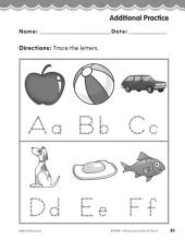 Pre-Kindergarten Foundational Phonics Skills: Trace the Letters
