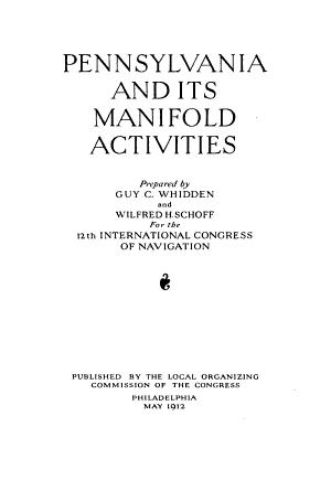 Pennsylvania and Its Manifold Activities