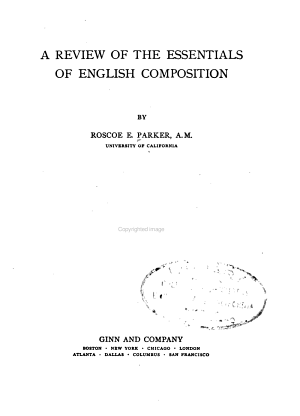 A Review of the Essentials of English Composition