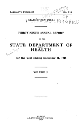 Annual Report: Volume 1; Volume 39, Part 1