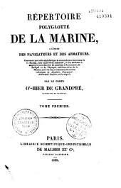 Répertoire polyglotte de la marine, à l'usage des navigateurs et des armateurs...