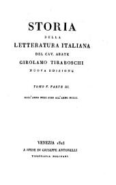 Storia della letteratura italiana: Volumi 11-12
