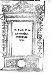Ecloga, que Erasmus inscribitur