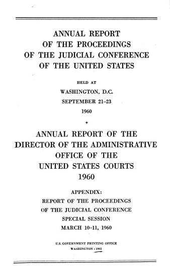 Annual Report of the Proceedings of the Judicial Conference of the United States PDF