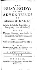 The Busy-body, Or, The Adventures of Monsieur Bigaud