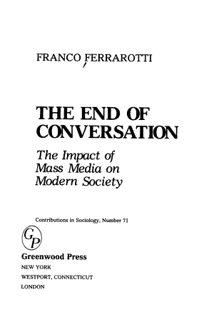 The End of Conversation