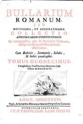 Complectens Constitutiones Benedicti XIII. scilicet ab Anno II. ad VI.: 12
