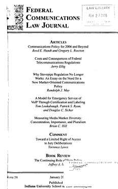 Federal Communications Law Journal PDF