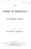 The Wolfe of Badenoch  an Historical Romance PDF