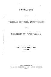 Catalogue of the University of Pennsylvania