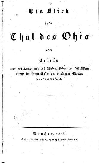 Ein Blick in s Thal des Ohio PDF