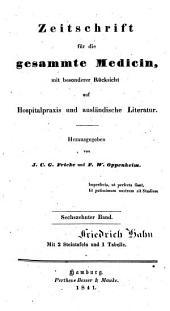 Zeitschrift für die gesammte Medicin: mit besonderer Rücksicht auf Hospitalpraxis und ausländische Literatur, Band 16