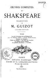 Oeuvres complètes de Shakspeare: Volume1