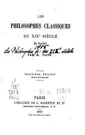 Les philosophes classiques du XIXe siècle en France