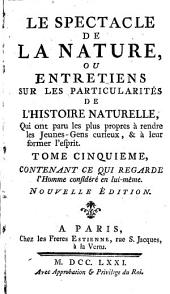 Le spectacle de la nature: V. 6; V. 7; V. 8,1