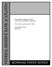 Technological Change, Financial Innovation, and Diffusion in Banking