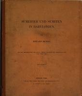 Sumerier und Semiten in Babylonien: Mit 9 Tafeln