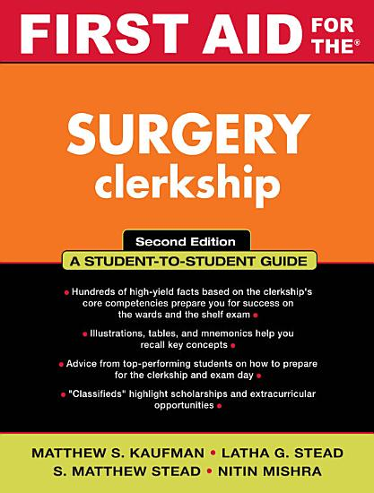 First Aid for the Surgery Clerkship PDF