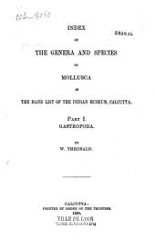 Index of the Genera and Species List of Mollusca in the Hand of the Indian Museum, Calcutta: Gastropoda