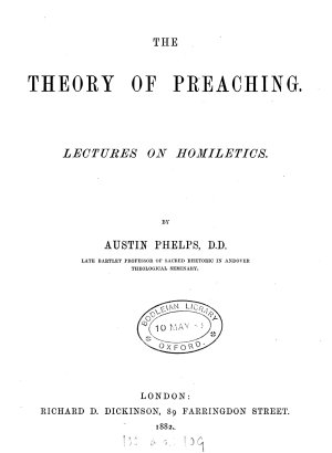 The theory of preaching  lects  on homiletics PDF