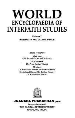 World Encyclopaedia of Interfaith Studies  Interfaith and global peace PDF