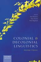 Colonial and Decolonial Linguistics PDF