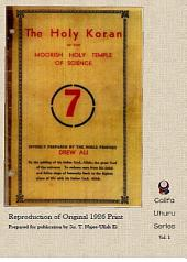 The Holy Koran of the Moorish Holy Temple of Science - Circle 7: Re-print of Original 1926 Publication