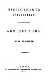 Bibliothèque universelle des sciences, belles-lettres, et arts: Volume 3