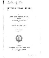 Letters from India: Volume 1