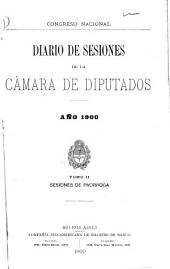 Diario de sesiones de la Cámara de Diputados: Volumen 2