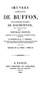 Oeuvres complètes de Buffon: avec les descriptions anatomiques de Daubenton, son collaborateur, Volume11,Partie11