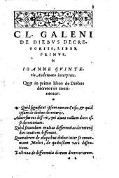 De Diebus decretoriis libri tres
