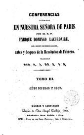Conferencias de Nuestra Señora de París por ---.: 1835-1836-1843