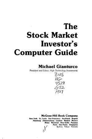 The Stock Market Investor's Computer Guide