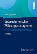 Unternehmerisches W  hrungsmanagement PDF