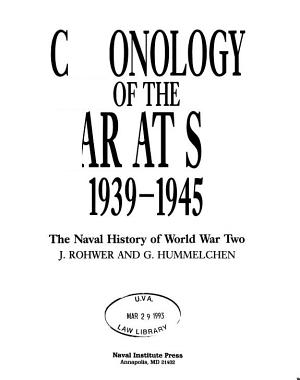 Chronology of the War at Sea 1939 1945