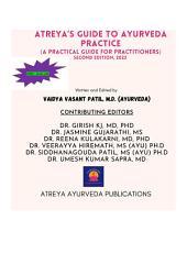 Atreya's guide to Ayurveda Practice